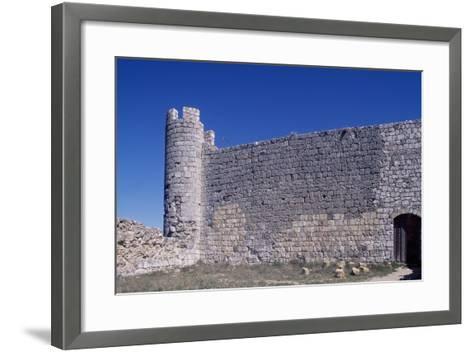 Spain, Castile-La Mancha, Jadraque, Castle of Jadraque, Old Fortified Wall--Framed Art Print