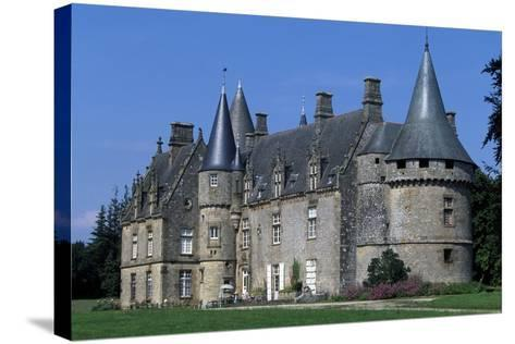 Bonnefontaine Castle, Antrain, Brittany, France--Stretched Canvas Print