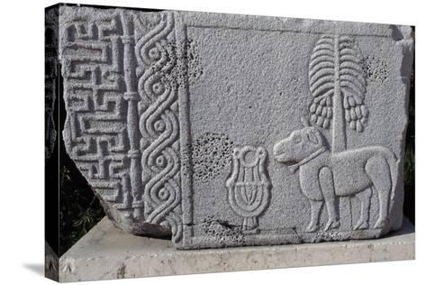 Bas-Relief Showing Coconut Palm and Quadruped, Aleppo Archaeological Museum, Syria--Stretched Canvas Print