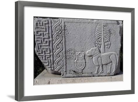 Bas-Relief Showing Coconut Palm and Quadruped, Aleppo Archaeological Museum, Syria--Framed Art Print