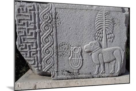 Bas-Relief Showing Coconut Palm and Quadruped, Aleppo Archaeological Museum, Syria--Mounted Giclee Print