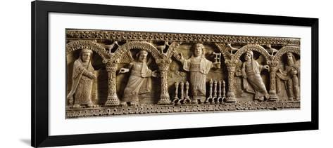 Christ of Apocalypse, Panel from Portable Altar--Framed Art Print