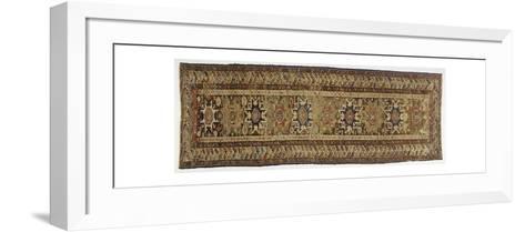 Rugs and Carpets: Russia - Dagestan - Woollen Kilim Carpet--Framed Art Print