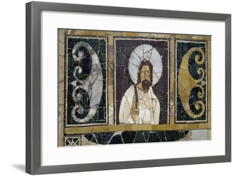 Inlaid Marble Depicting Face of Christ, Artifact from Rome, Italy, Early Christian Period--Framed Art Print