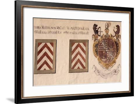 Decorative Crests, Hauterive Cistercian Abbey, Canton of Fribourg, Switzerland--Framed Art Print