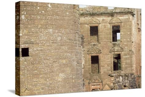 View of the Courtyard of Caerlaverock Castle, Near Dumfries, Dumfries and Galloway--Stretched Canvas Print