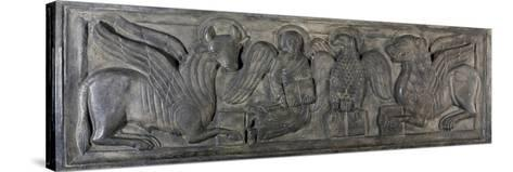 Symbol of Four Evangelists, Bas-Relief, 12th Century--Stretched Canvas Print