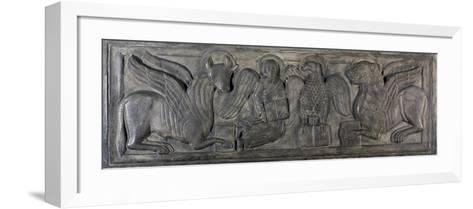 Symbol of Four Evangelists, Bas-Relief, 12th Century--Framed Art Print