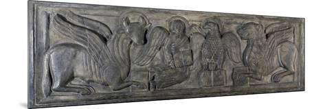 Symbol of Four Evangelists, Bas-Relief, 12th Century--Mounted Giclee Print