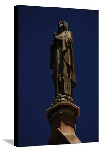 United States, Santa Fe, Loretto Chapel, Statue of Virgin Mary--Stretched Canvas Print