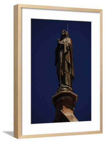 United States, Santa Fe, Loretto Chapel, Statue of Virgin Mary--Framed Art Print