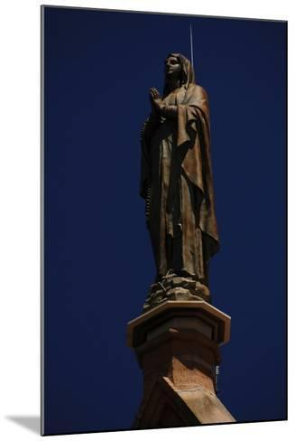 United States, Santa Fe, Loretto Chapel, Statue of Virgin Mary--Mounted Giclee Print