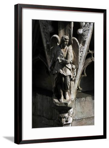 Italy, Milan, Cathedral, Gothic, Exterior, Detail, Facade, Angel--Framed Art Print