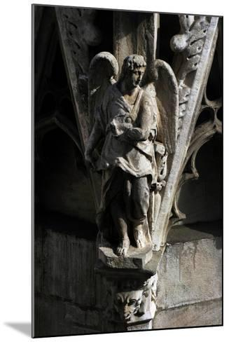 Italy, Milan, Cathedral, Gothic, Exterior, Detail, Facade, Angel--Mounted Giclee Print