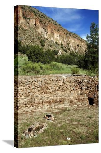 USA, Near Los Alamos, New Mexico, Bandelier National Monument, Big Kiva--Stretched Canvas Print