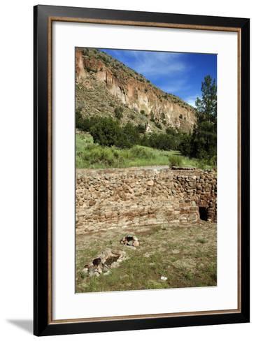 USA, Near Los Alamos, New Mexico, Bandelier National Monument, Big Kiva--Framed Art Print