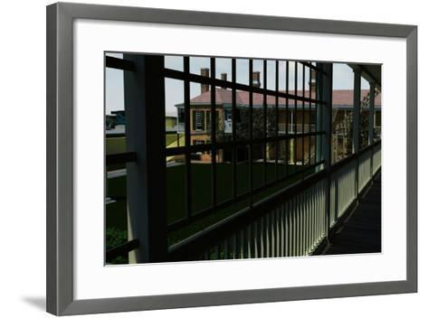 View from the Upper-Level across the Parade-Ground Within Fort Moultrie, South Carolina--Framed Art Print