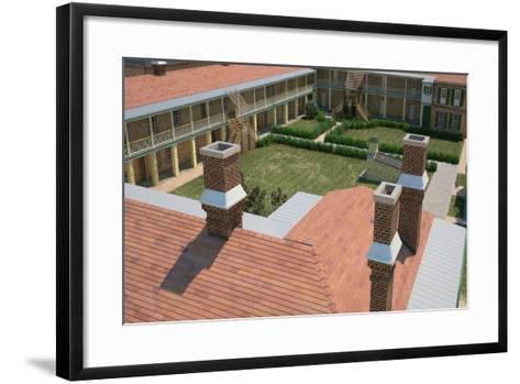 Computer-Graphic View of the Rooftop of Antebellum Fort, Prior to the American Civil War--Framed Art Print