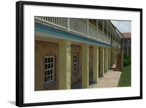 Computer-Graphic Recreation of the Balustrade in Front of the North Barracks in Fort Moultrie--Framed Art Print