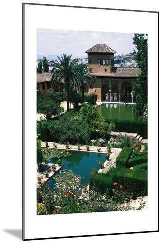 Spain. the Alhambra. Tower of the Ladies and Partal Gardens--Mounted Giclee Print