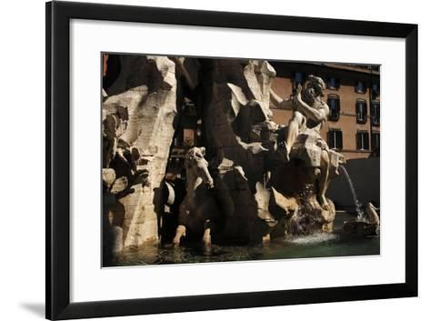 Fountain of Four Rivers, 1651--Framed Art Print