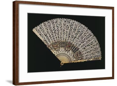 Fan with Bobbin Lace Page, Beginning 1700s, and Ribs of Later Period--Framed Art Print