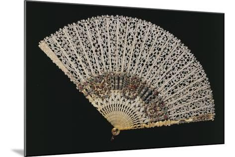 Fan with Bobbin Lace Page, Beginning 1700s, and Ribs of Later Period--Mounted Giclee Print