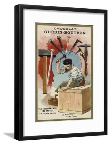 Hammer and Nails--Framed Art Print