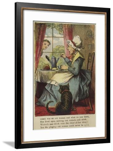 There Was an Old Woman and What Do You Think--Framed Art Print