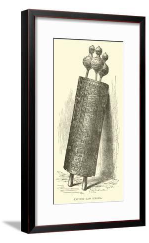 Ancient Law Scroll--Framed Art Print