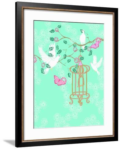 Doves, 2013-Anna Platts-Framed Art Print