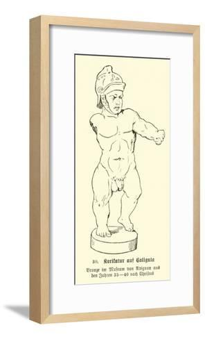 Caricature of Caligula--Framed Art Print