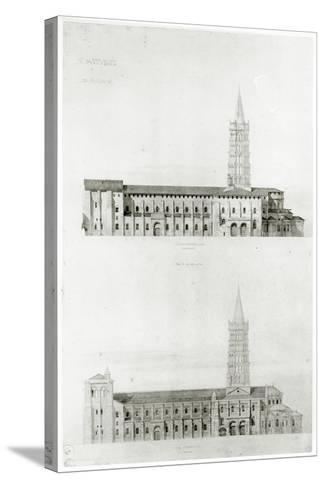 Basilica of St. Sernin, Toulouse-Eugene Emmanuel Viollet-le-Duc-Stretched Canvas Print