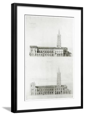 Basilica of St. Sernin, Toulouse-Eugene Emmanuel Viollet-le-Duc-Framed Art Print