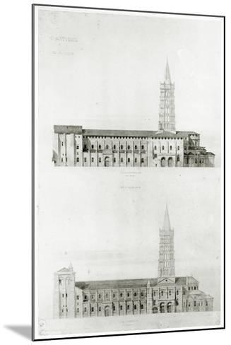 Basilica of St. Sernin, Toulouse-Eugene Emmanuel Viollet-le-Duc-Mounted Giclee Print