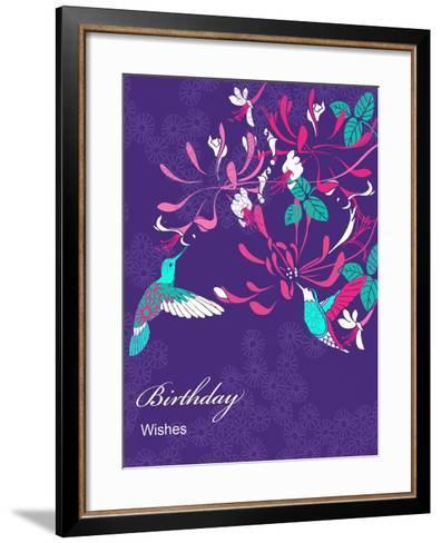 Honeysuckle Birthday, 2013-Anna Platts-Framed Art Print