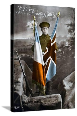 Long Live Our Brave Allies!, 1915--Stretched Canvas Print