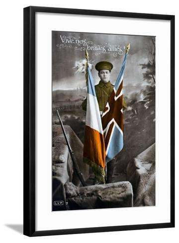 Long Live Our Brave Allies!, 1915--Framed Art Print