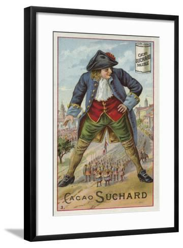 Gulliver with the Lilliputian Army--Framed Art Print