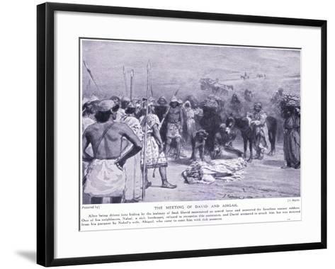 Meeting of David and Abigail--Framed Art Print