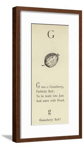 The Letter G-Edward Lear-Framed Art Print