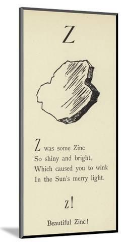 The Letter Z-Edward Lear-Mounted Giclee Print