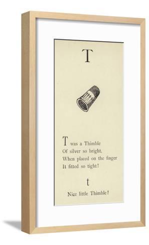 The Letter T-Edward Lear-Framed Art Print