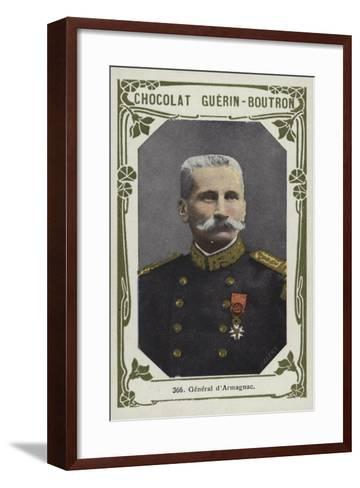 General D'Armagnac--Framed Art Print