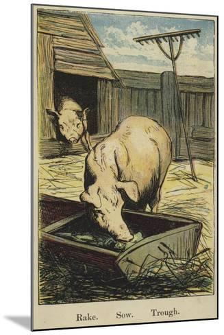 The Farmyard Alphabet--Mounted Giclee Print