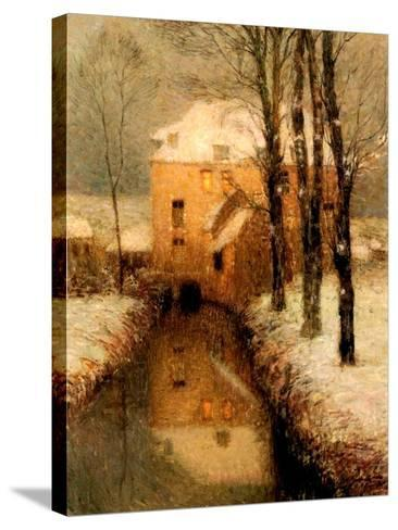 The Canal in Winter, 1901-Henri Eugene Augustin Le Sidaner-Stretched Canvas Print