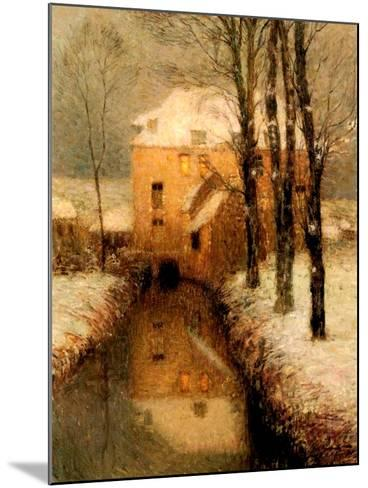 The Canal in Winter, 1901-Henri Eugene Augustin Le Sidaner-Mounted Giclee Print