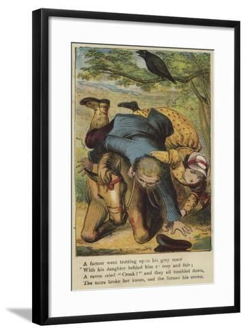 A Farmer Went Trotting Upon His Gray Mare--Framed Art Print
