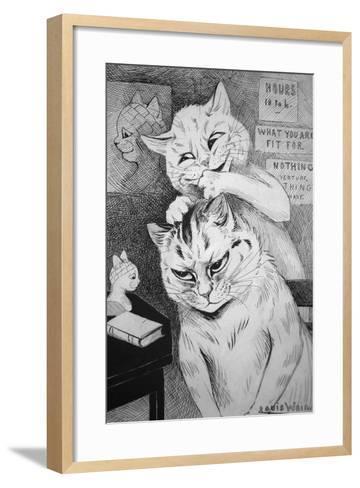 Phrenology, C.1911-Louis Wain-Framed Art Print