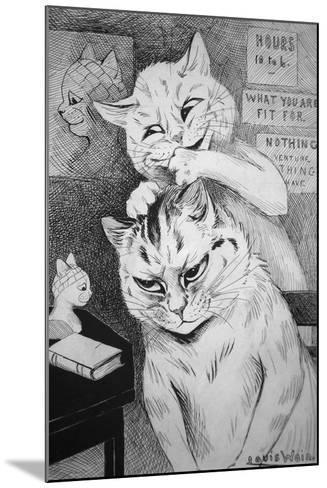 Phrenology, C.1911-Louis Wain-Mounted Giclee Print